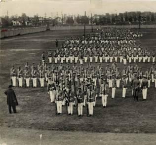 Archbishop John Ireland reviews St. Thomas cadets in 1917
