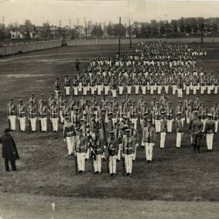 Archbishop John Ireland reviews St. Thomas cadets in 1917