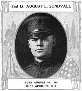 Lt. August L. Sundvall (d. 1918)
