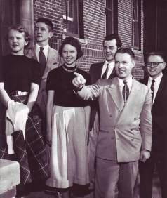 Carl Lundquist and Bethel students in the 1950s