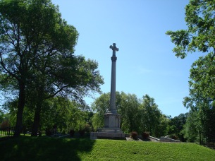 The Ramsey Country WWI Memorial, just south of the St. Thomas campus