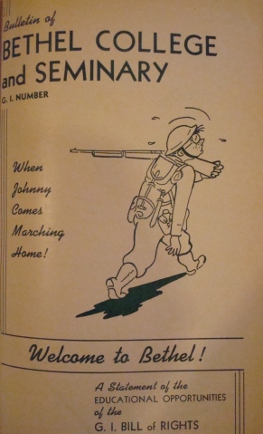 """Cover of the July-August 1945 """"G.I. Number"""" of the Bethel Bulletin"""