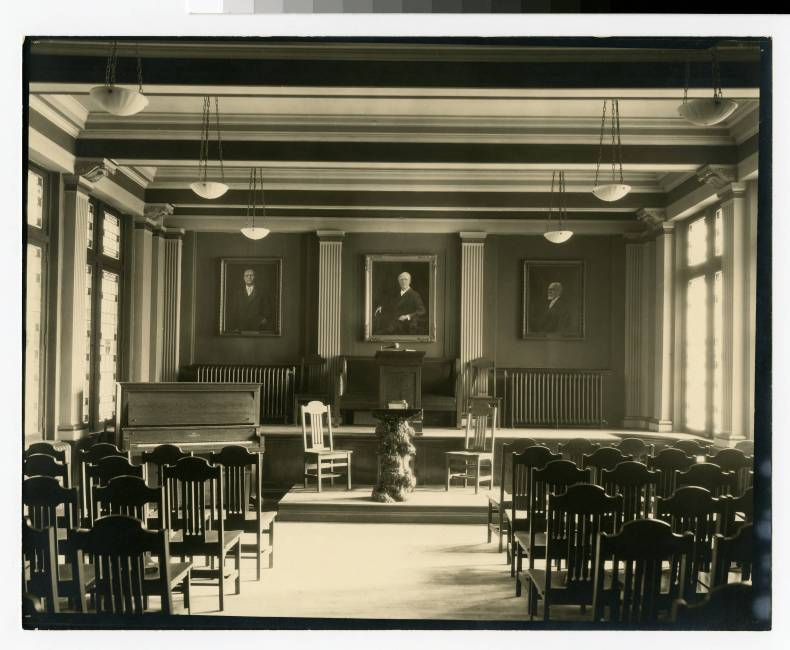 Bethel's chapel room in 1921