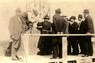 June 21, 1915: Laying the cornerstone of Bethel Academy's new building - Courtesy of Bethel University Digital Library