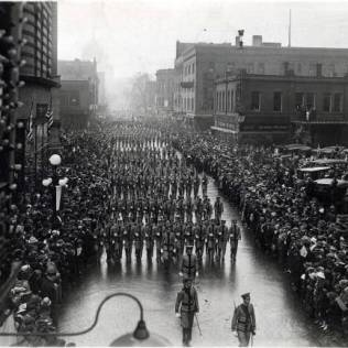 St. Thomas cadets taking part in St. Paul's 1917 civic parade