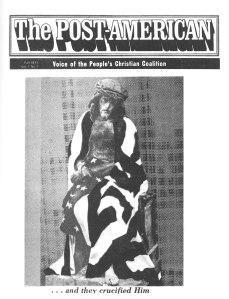 Cover of the first issue of the Post American journal, 1971