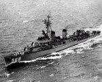 A mid-1950s USS Wren, much as she appeared when Carlson served aboard