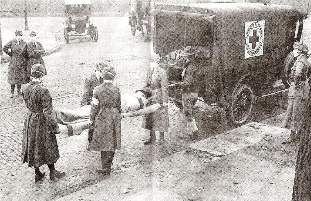 An influenza victim in St. Louis, 1918