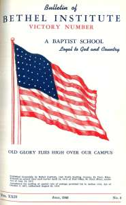 The July 1942 Bethel Bulletin cover (the
