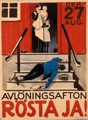 1922 Swedish Prohibition poster