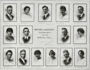 The Bethel Academy Class of 1917
