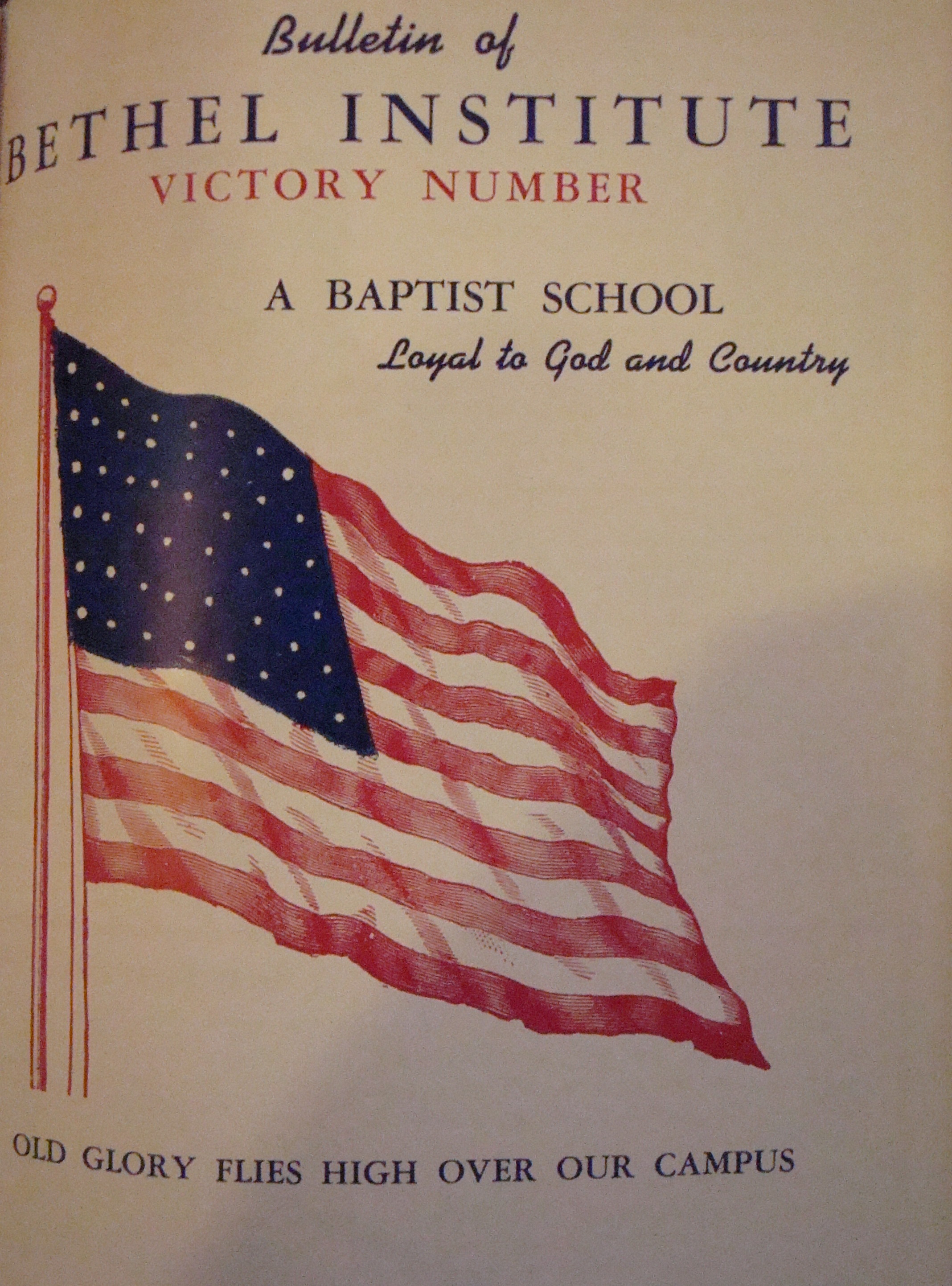 "Cover of the July 1942 Bethel Bulletin: a ""Victory Number"""