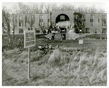 Nelson Hall under construction - Bethel University Digital Library