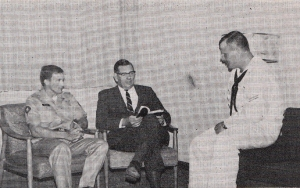 A chaplain counsels servicemen - October 21, 1968 Standard - Bethel University Digital Library