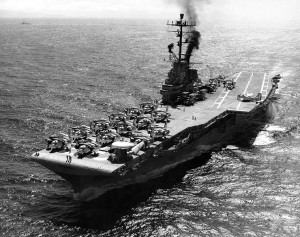 The USS Kearsarge as she appeared exactly forty-eight years ago - U.S. Navy photo