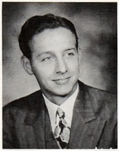 Kenneth W. Carlson in his 1948 Bethel Seminary yearbook photo