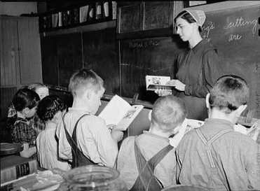 A one-room Mennonite school in Pennsylvania, 1942