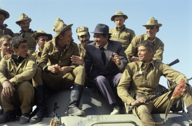 Soviet troops return from Afghanistan in 1979