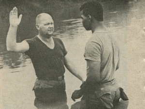 Baptism in a river near Khe Sanh, Vietnam - July 15, 1968 Standard - Bethel University Digital Library