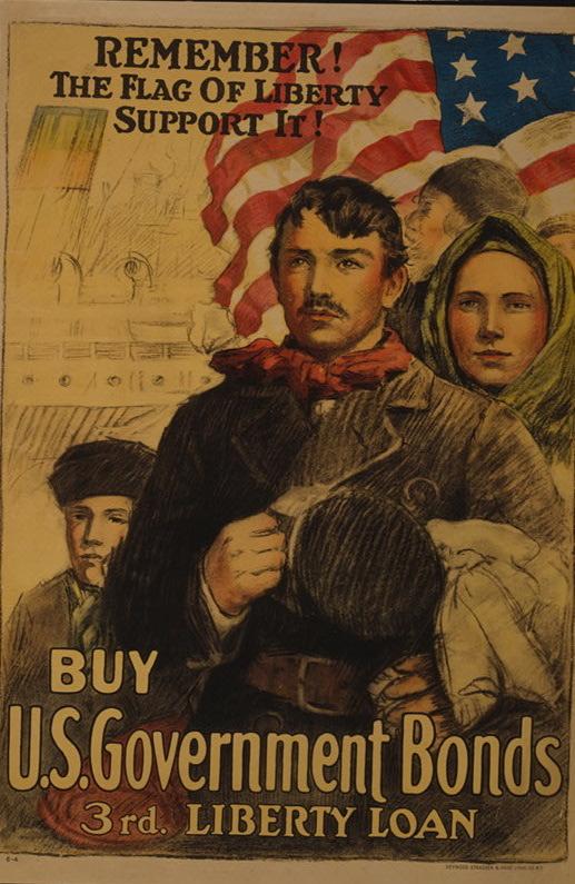 """Remember! The flag of liberty"" - 1918 propaganda aimed at recent immigrants"