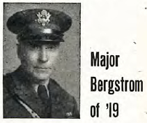 Carl Bergstrom, as pictured in the Bethel Clarion article announcing his participation in the 1943 Bethel Homecoming