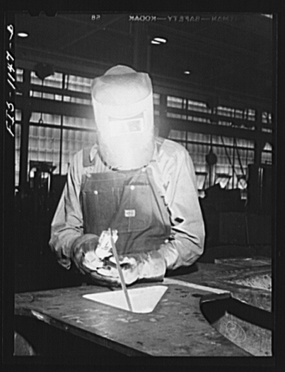 Defense worker at work in Minneapolis