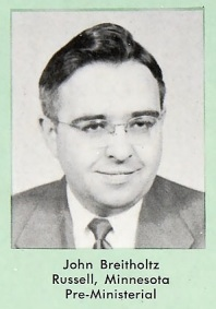 John Breitholtz as a Bethel senior in 1951