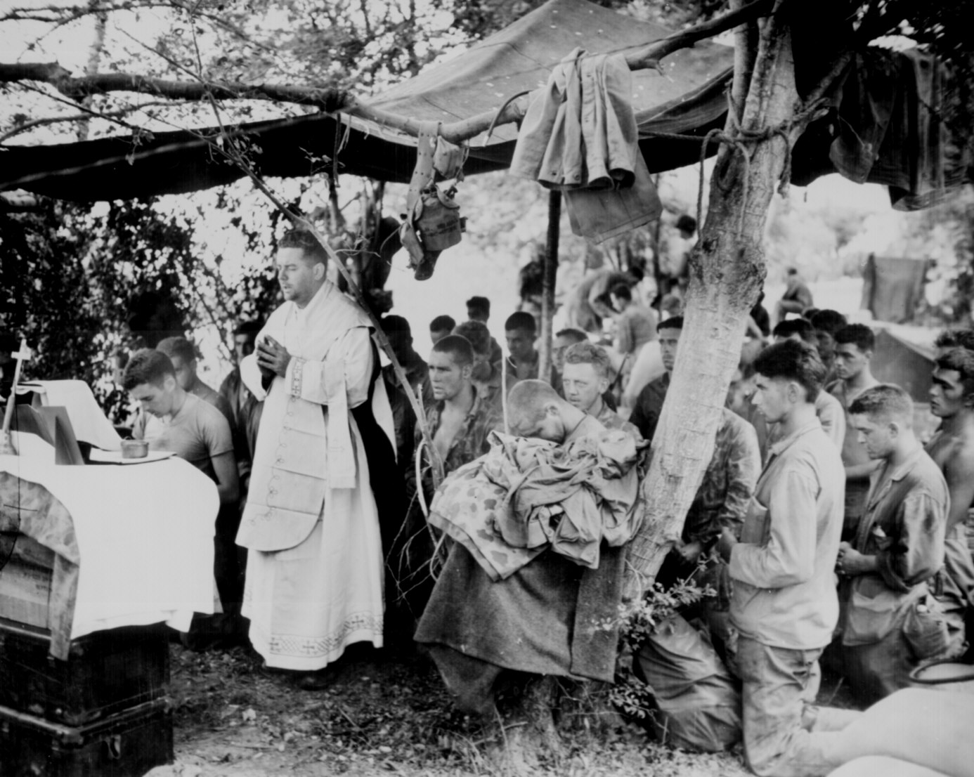Mass on Saipan in June 1944
