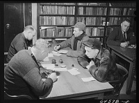 Registering for selective service in Feb. 1942