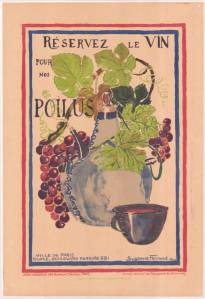 French WWI poster encouraging civilians to save wine for soldiers