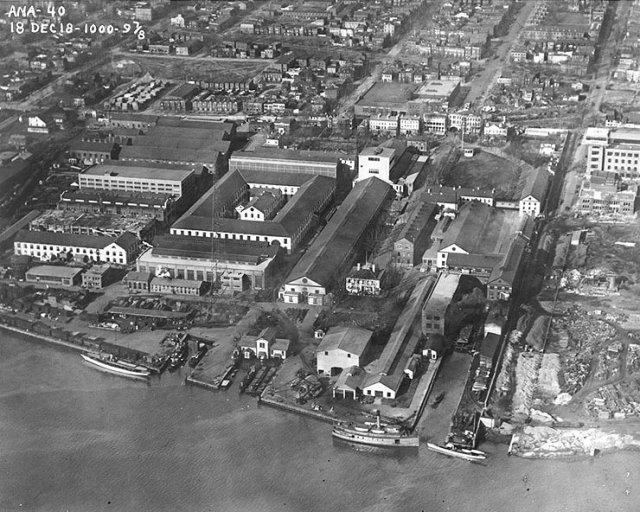 Washington Navy Yard in 1918