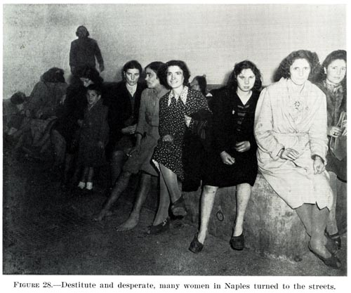 Women in Naples turning to prostitution in 1944