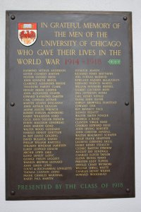 U. Chicago WWI Roll of Honor