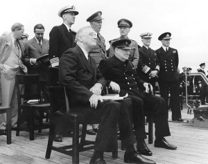 Churchill and Roosevelt at the issuance of the Atlantic Charter - Wikimedia Commons