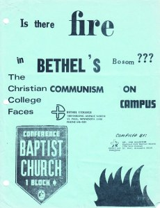 Bethel stands accused (click for full document) - Personal papers, G.W. Carlson