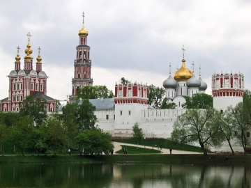 Novodevichy Convent, site of the Orthodox Theological Institute opened during WWII by Stalin - Wikimedia Commons