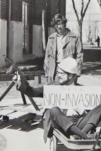 Fagerson (seated) at the May 1970 protest - Bethel University Digital Library