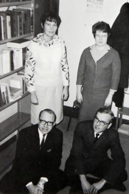 Fagerson (seated, right) in 1968 - Bethel University Digital Library