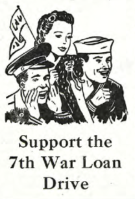 1945 war loan drive ad in The Clarion