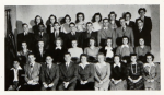 1943-1944 freshmen class photo in Bethel yearbook