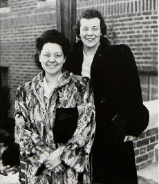 Enid Platts with Alice Johnson