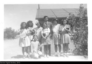 Sunday School class at Poston, ca. 1944