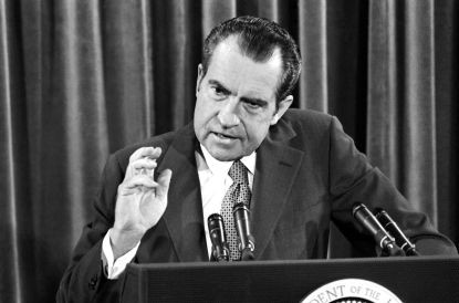 Nixon denies wrongdoing
