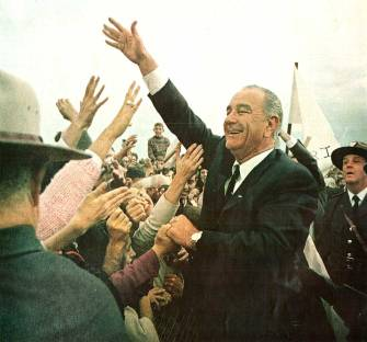Johnson campaigning in 1964