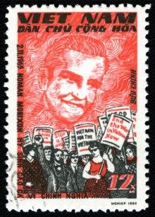 North Vietnamese Norman Morrison commemorative stamp