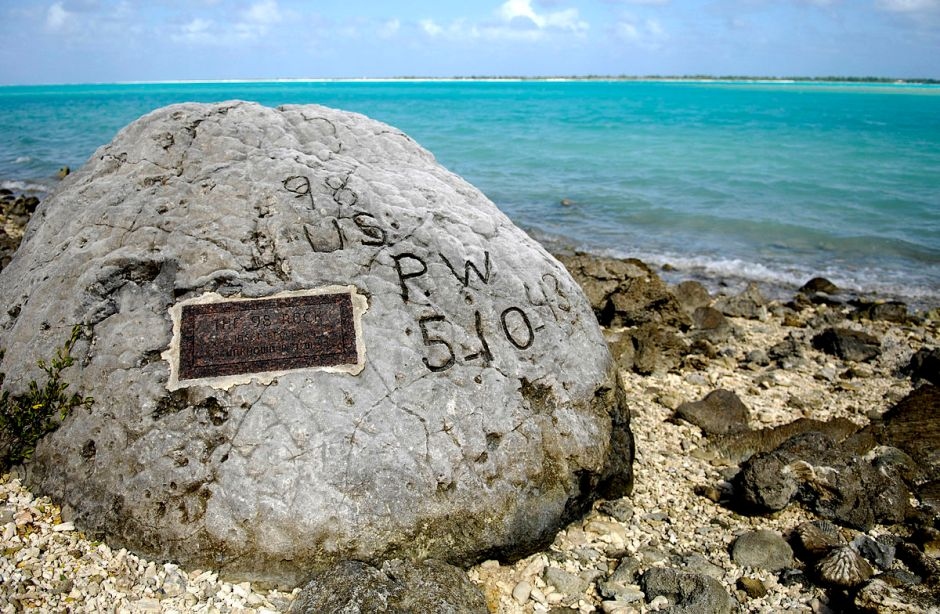 Memorial to 98 American civilian prisoners executed by the Japanese on Wake Island
