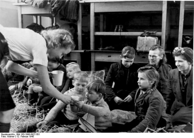 German refugee children in Denmark after the war