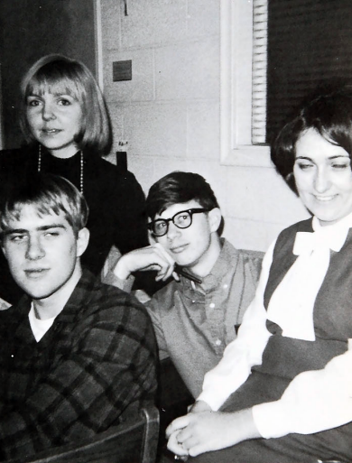 Clarion Staff with Dave Shupe (center), 1968 Spire - BUDL