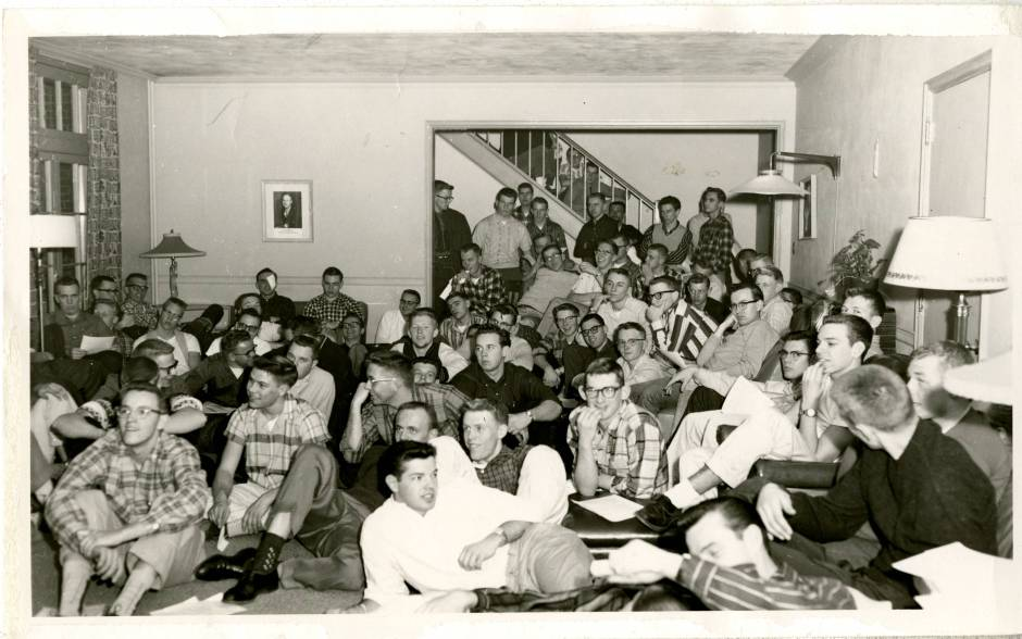 Full room in the Edgren residence, ca. 1956