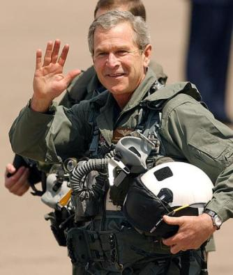 bush-in-flight-suit